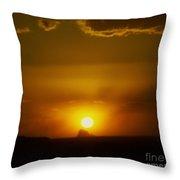 Sunset Over Shiprock Throw Pillow