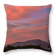 Sunset Over Squaw Butte Throw Pillow