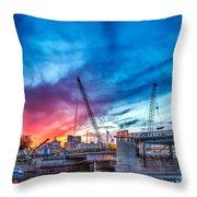 Sunset Over St. Paul Throw Pillow