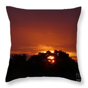 Sunset Over Sutton Surrey Throw Pillow