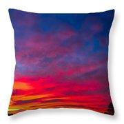 Sunset Over Swansea Tasmania Throw Pillow