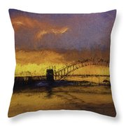 Sunset Over Sydney Harbour A Turneresque View Throw Pillow