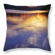 Sunset Over The Arkansas River Throw Pillow