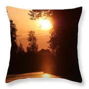 Sunset Over The Canals Throw Pillow