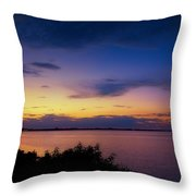 Sunset Over The Causeway Throw Pillow