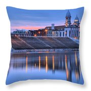 Sunset Over The Clinton County Courthouse Throw Pillow