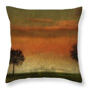 Sunset Over The Country Throw Pillow