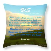 Sunset Over The Dales With Poem Throw Pillow