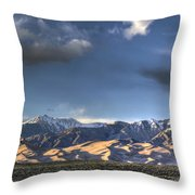 Sunset Over The Dunes Throw Pillow