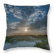 Sunset Over The Dunes Throw Pillow