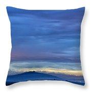 Sunset Over The European Alps Throw Pillow