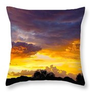 Sunset Over The Mc Dowell Mountains Throw Pillow