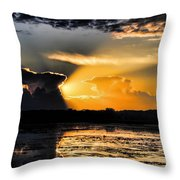 Sunset Over The Mead Wildlife Area Throw Pillow