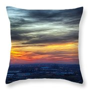 Sunset Over The Metro Throw Pillow