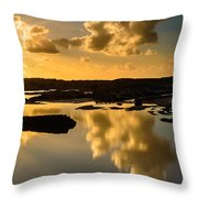 Sunset Over The Ocean V Throw Pillow by Marco Oliveira
