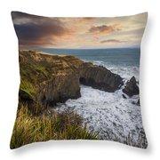 Sunset Over The Oregon Coast Throw Pillow