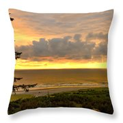 Sunset Over The Pacific Ocean Throw Pillow