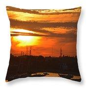 Sunset Over The Salem Willows Throw Pillow