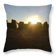 Sunset Over The Sand Castle 3 Throw Pillow