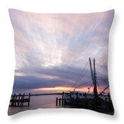 Sunset Over The Senseless Fernandina Beach Florida Throw Pillow