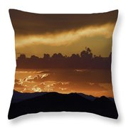 Sunset Over The Tucson Mountains Throw Pillow
