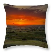 Sunset Over The Valley Throw Pillow by Robert Bales