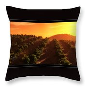 Sunset Over The Valley Throw Pillow