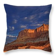 Sunset Over The Waterpocket Fold Capitol Reef National Park Throw Pillow