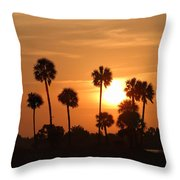 Sunset Palms 1 Throw Pillow by Roger Snyder