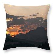 Sunset Panorama Banff National Park Throw Pillow