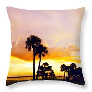 Sunset Panorama Throw Pillow
