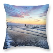 Sunset Paradise Jekyll Island  Throw Pillow