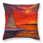 Sunset Passion Throw Pillow