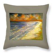 Sunset Passion At Cranes Beach Throw Pillow