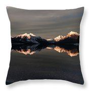 Sunset Peaks Throw Pillow