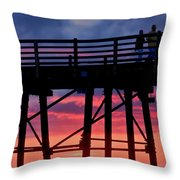 Sunset Pier Throw Pillow