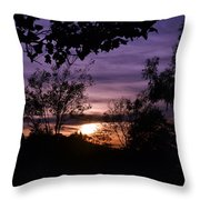 Sunset Purple Sky Throw Pillow