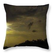 Sunset Radiance Throw Pillow
