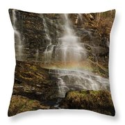 Sunset Rainbow At Amicalola Falls Throw Pillow