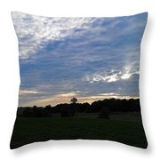 Sunset Rays 5 Throw Pillow