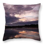 Sunset Reflected In A Lake Throw Pillow