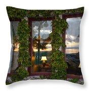 Sunset Reflection On Empress Window Throw Pillow