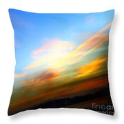 Sunset Reflections - Abstract Throw Pillow