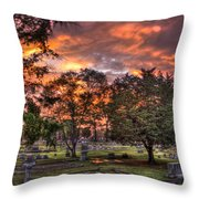 Sunset Reflections And Life Throw Pillow
