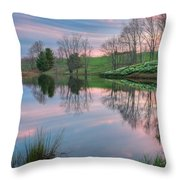 Sunset Reflections Square Throw Pillow