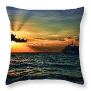 Sunset Regatta  Throw Pillow