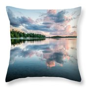Sunset Relections Throw Pillow