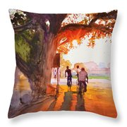 Sunset Riders Throw Pillow