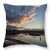 Sunset Ripples In Time Throw Pillow