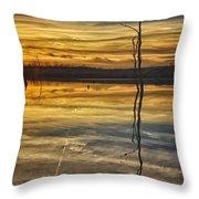 Sunset Riverlands West Alton Mo Dsc03317 Throw Pillow